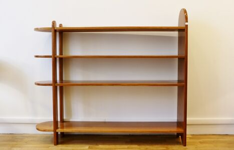 Art Deco Mahogany Shelf or Bookcase, by Eugène Printz