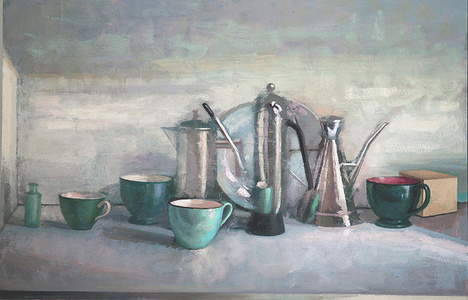 Still Life with Oil Decanters