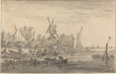 Foreshore Scene with Windmill