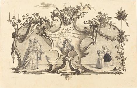 Cartouches Modernes avec des Enfans qui representant les Modes d'Augsbourg
