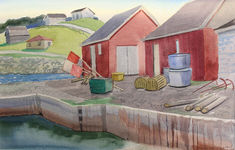 The Red Sheds at Port Au Choix