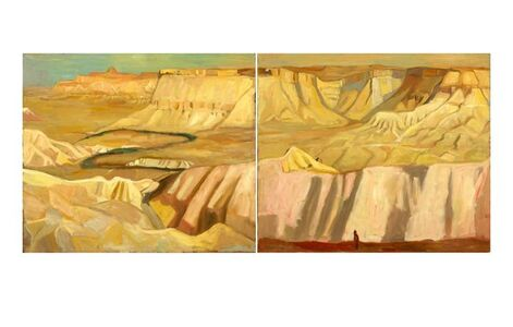 View from the Cliff (Diptych)