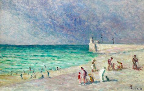 Figures On The Beach - Treport