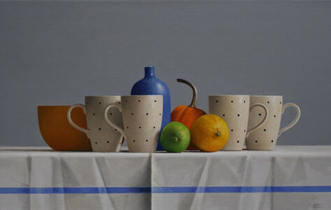 Four Polka Dot Cups
