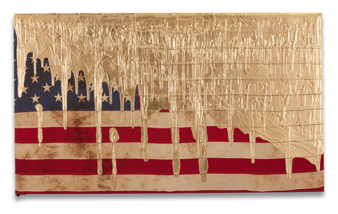 Gold Dripping Flag (Exposed)