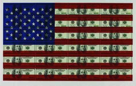 $100 US Flag
