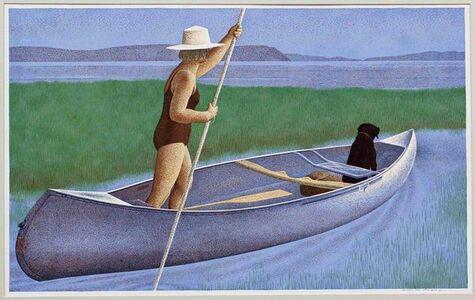 Woman, Dog and Canoe