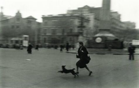 Running for Shelter During Air Raid, Barcelona