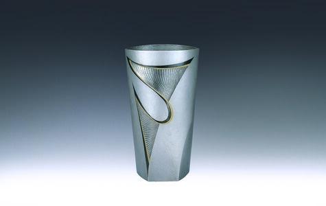 """Silver Vase """"Leap"""""""