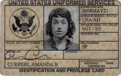 Identity and Privilege Card, Expired