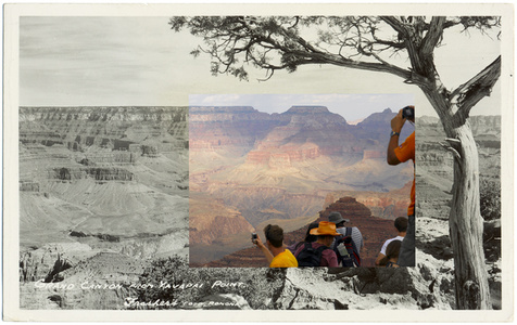 Grand Canyon from Yavapai Point, from a set of 20 altered postcards