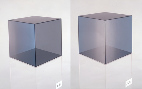 Cube # 51 (Blue, Light/Dark Grey)