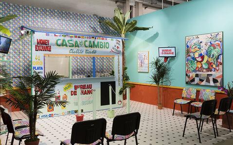 Installation view, Casa de Cambio