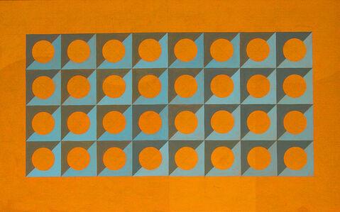 Circle and Squares in Orange