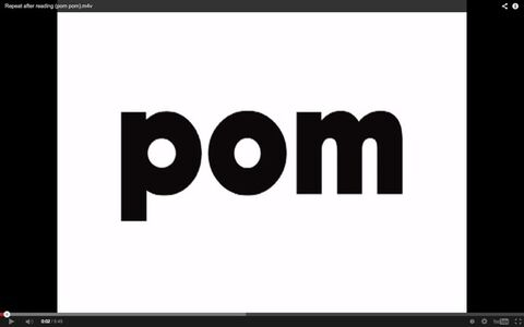 Repeat after reading (POM POM)