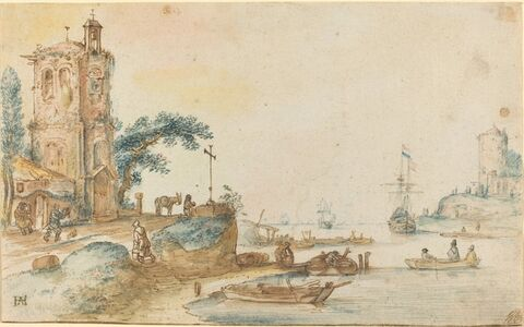 Scene with a Tower to the Left