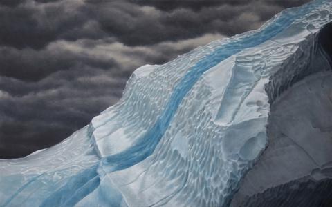 Iceberg with Frozen Rainwater