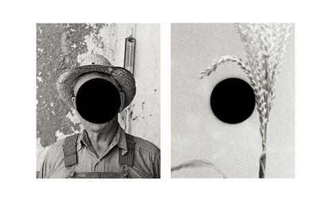 Detail of Mr. Tronson, Farmer Near Wheelock, ND, 1936 (Russell Lee) / Detail of Untitled, Alabama, 1936 (Walker Evans)