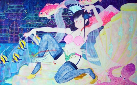 A Dance To Welcome Taro Urashima of the princess of the Dragon Palace