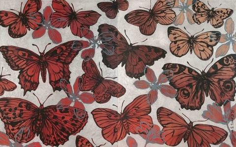 Butterflies in Fall (Diptych)