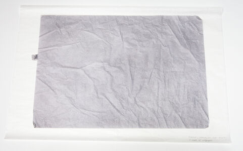 Untitled (Drawing for Two Objects), 3 sheets of silk paper