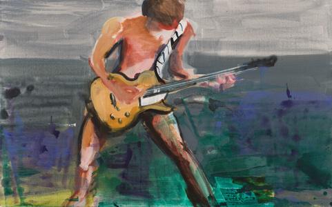 Boy mit E-Gitarre