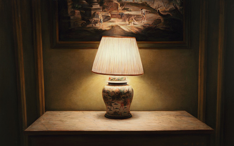 Park Avenue Chinese Porcelain Lamp