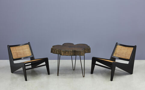 """Tree Trunk"" Coffee Table and ""Kangaroo"" Chairs"