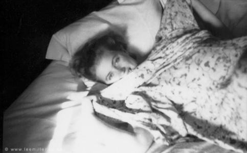 Lee Miller in Bed , Bruges, Belgium