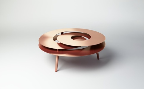 Rollercoaster Medium Table (Copper Plated)