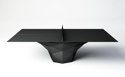 """""""Deceptor"""" Ping Pong Table Tennis Table Powder-Coated in Black"""
