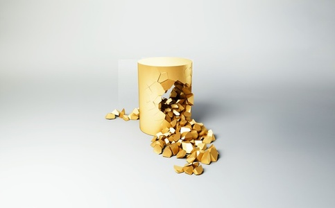 Stool (Gold plated) | Bullet Pouf