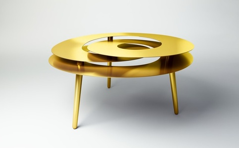 Rollercoaster Large Table (Gold Plated)
