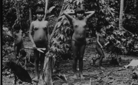 Yanomami Chirldren in the Forest