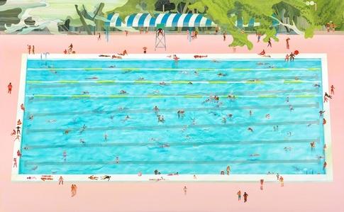 Swimming pool series -Public swimming pool
