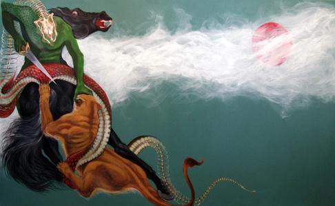 Zahhak and Iranian Lion to the war