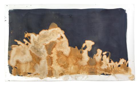 Littoral Drift #96 (Mono Lake, Mono County, CA 07.05.14, Two Waves, Poured)