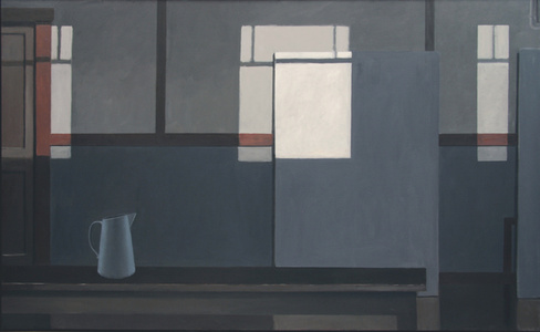 MONDRIAN'S STUDIO WITH THE LIGHTS OFF (BLUE PITCHER)
