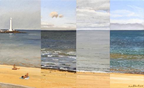 Four Views of St Kilda Beach