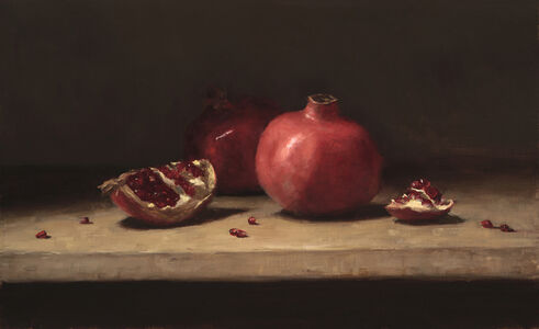 Pomegranates on a Table