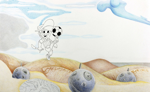 EL GAUCHITO ERRANTE AFINA LA PUNTERÍA (The Wandering Little Gaucho Perfects his Target Practice)