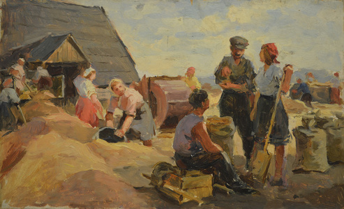 Women at harvest