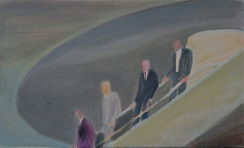Business Men Descending