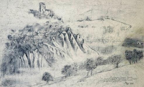 Paysage de Monte Calvello