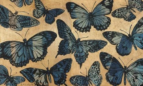 Blue Butterflies (Diptych)