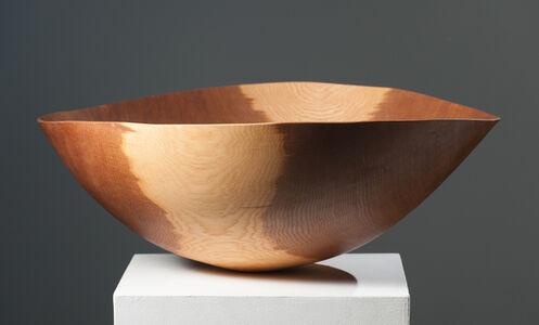 Large Brown Oak Bowl