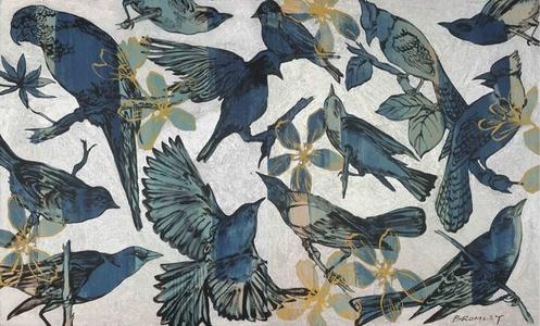 Birds in Blue (Diptych)