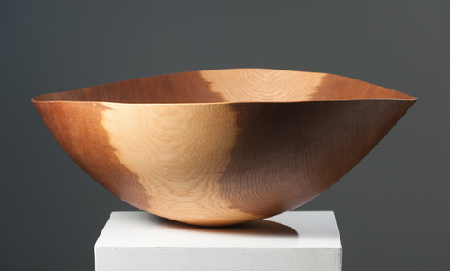Large Brown Oak Bowl