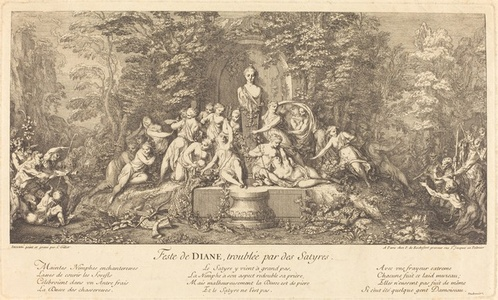 Feste de Diane, Troublee par des Satyres (Feast of Diana Disrupted by Satyrs)