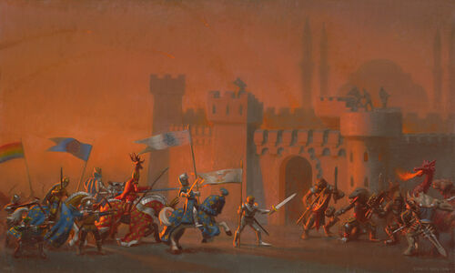 The Crusaders Entering Constantinople